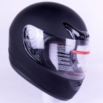IV2 901 motorcycle helmet side matte black.