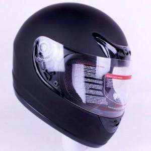 IV2 901 motorcycle helmet side matte black.