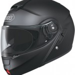 Shoei Neotec Motorcycle Helmet matte black side.