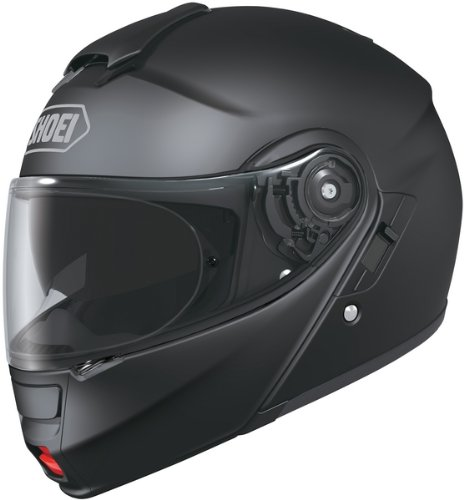 Shoei Neotec Motorcycle Helmet matte black side.